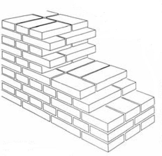 Capitello interno mattoni pieni ispirazione design casa for Disegni di garage di mattoni